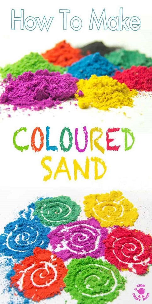 How to make coloured sand pin