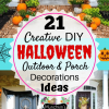 21 Creative DIY Halloween Outdoor & Porch Decorations Ideas