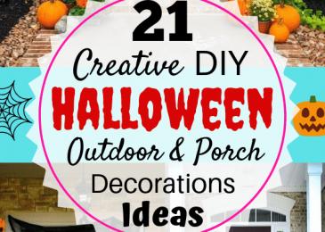 21 Creative DIY Halloween Outdoor & Porch Decorations Ideas