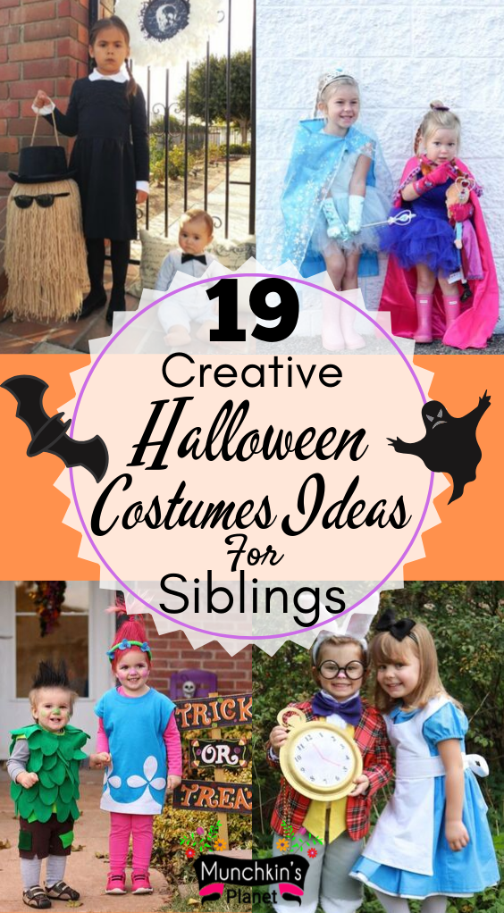 Creative Halloween Costumes Ideas For Siblings