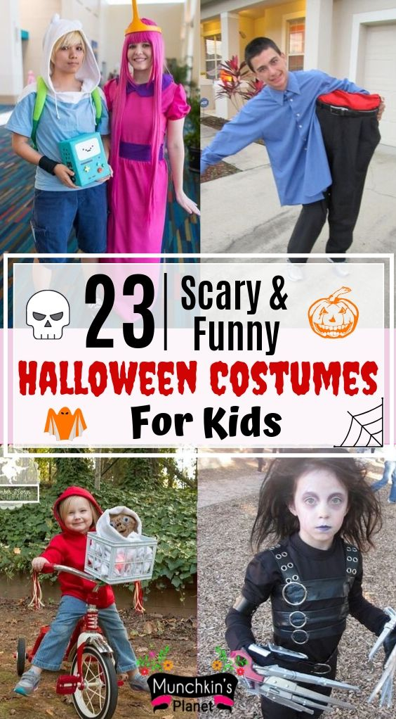 scary and funny halloween costumes for kids
