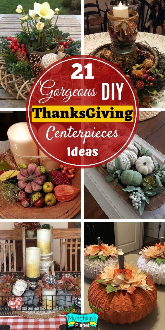 21 Gorgeous Diy Thanksgiving Centerpieces Table Decorations