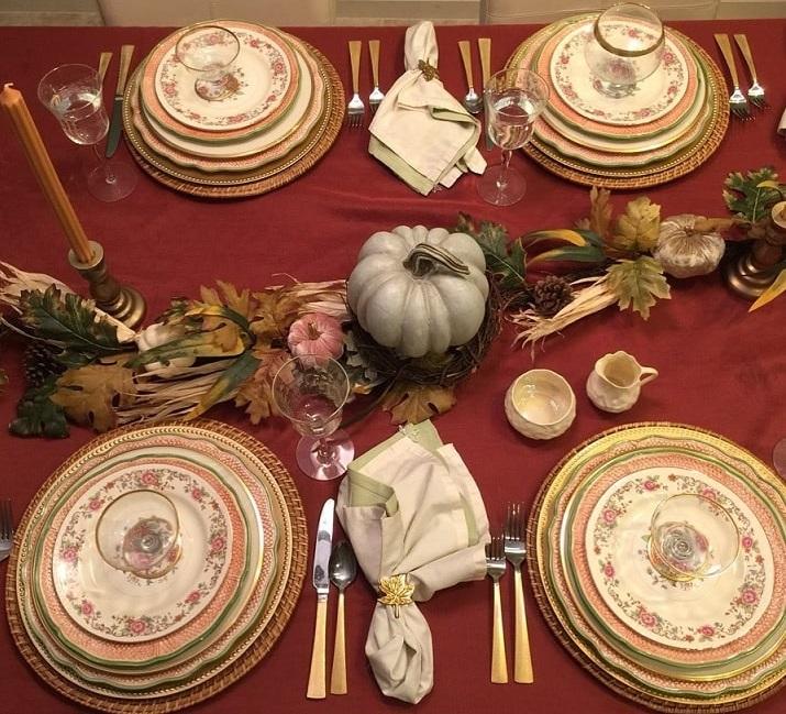 thanksgiving table setting ideas 13