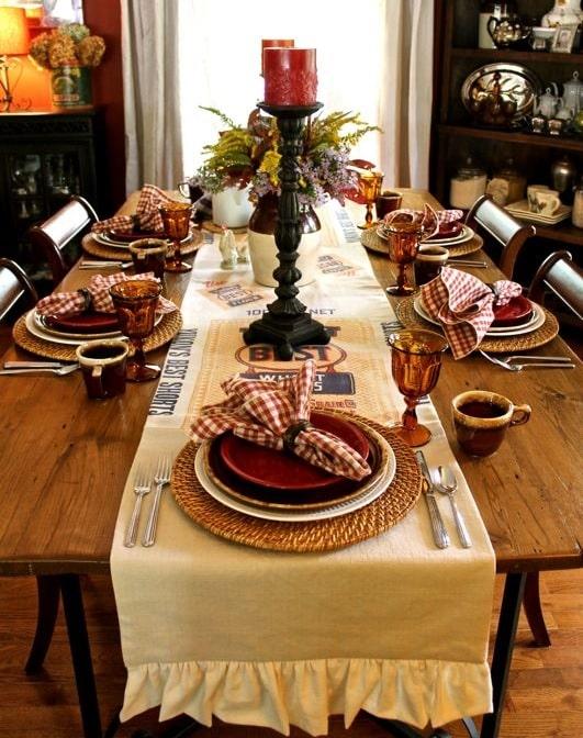 thanksgiving table setting ideas 14
