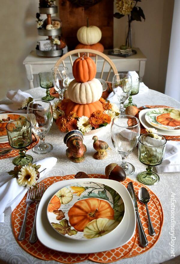 thanksgiving table setting ideas 22