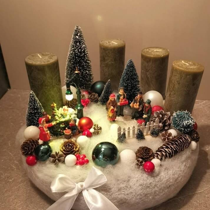 christmas table centerpieces decorations ideas 7