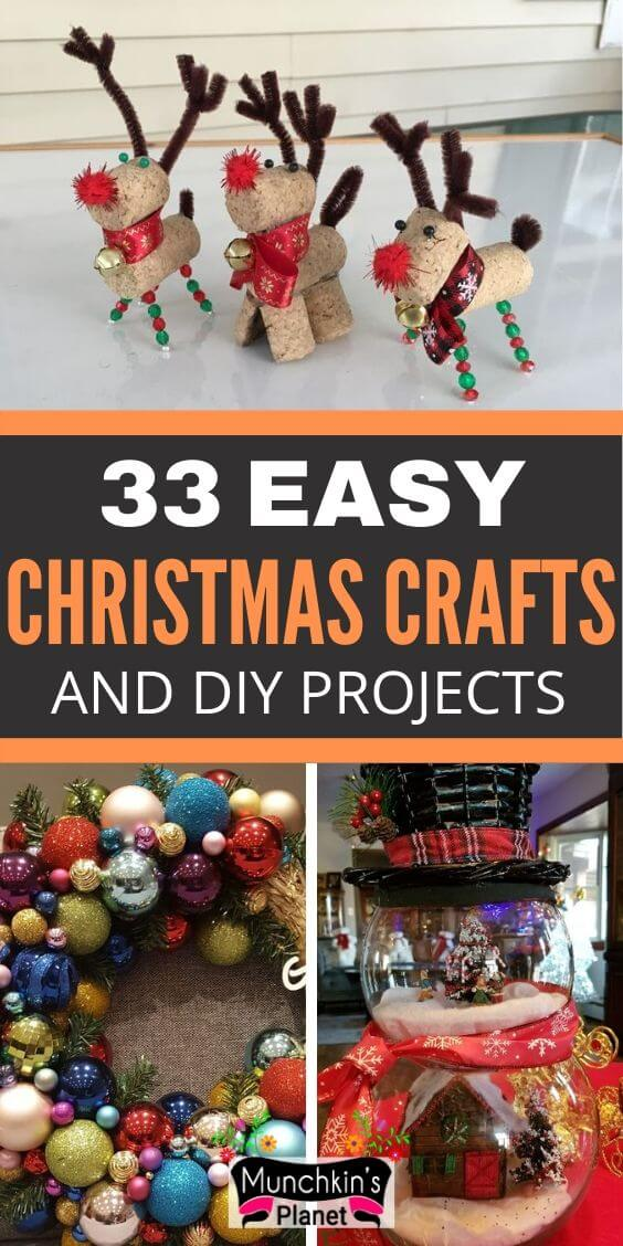 easy christmas crafts diy projects