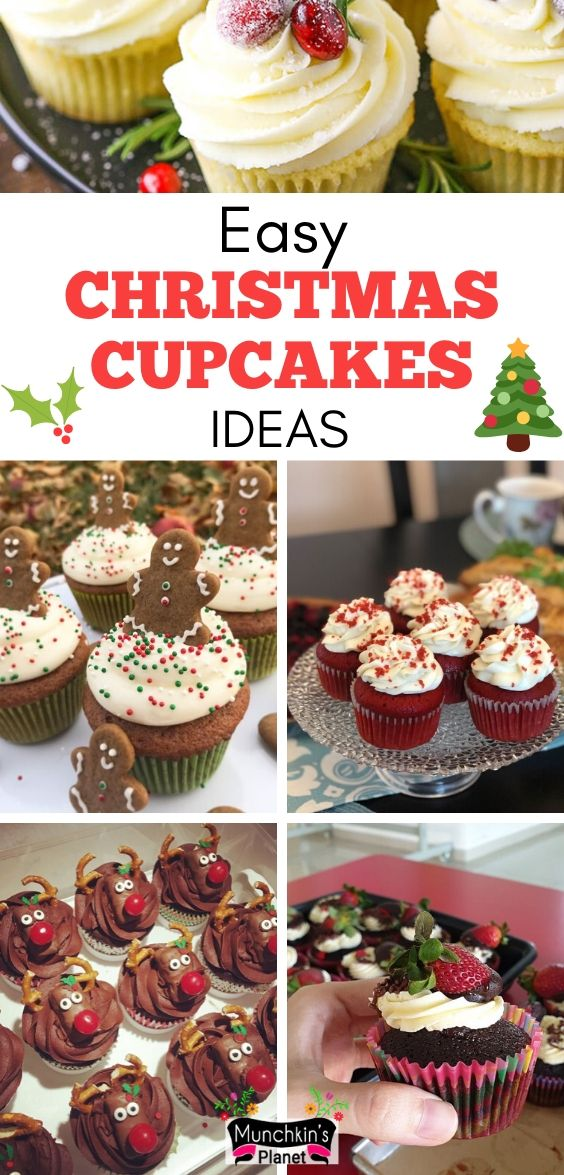 Easy Christmas Cupcakes Ideas Munchkins Planet