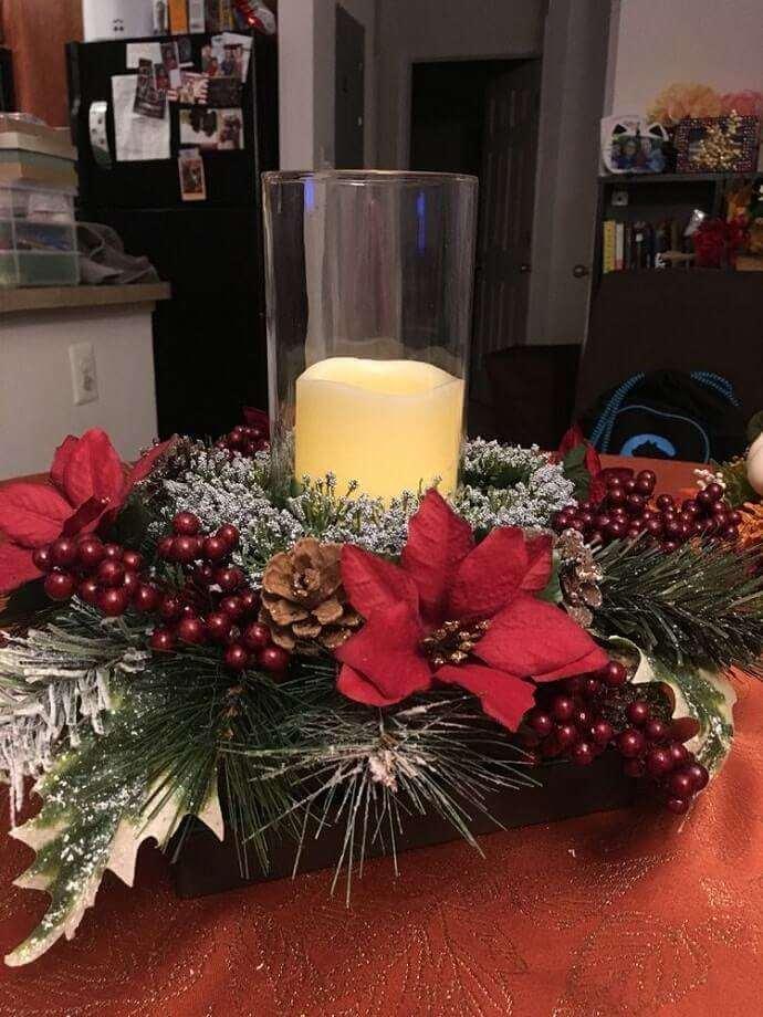 christmas table centerpieces decorations ideas 16