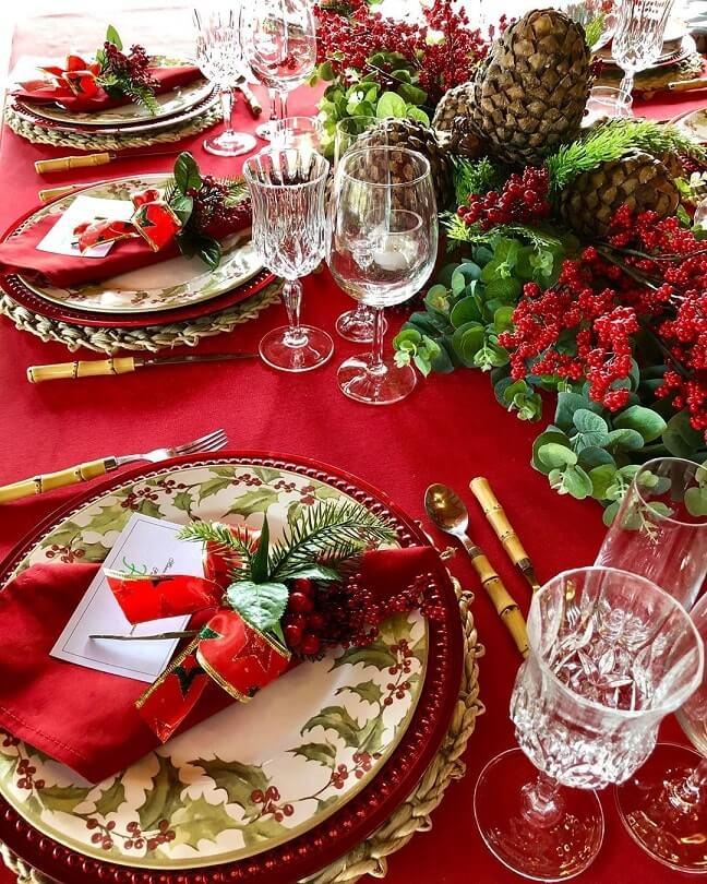 simple easy christmas table setting ideas 1