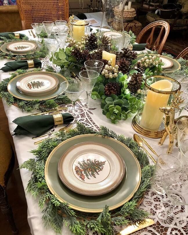 simple easy christmas table setting ideas 10