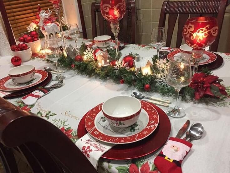simple easy christmas table setting ideas 12