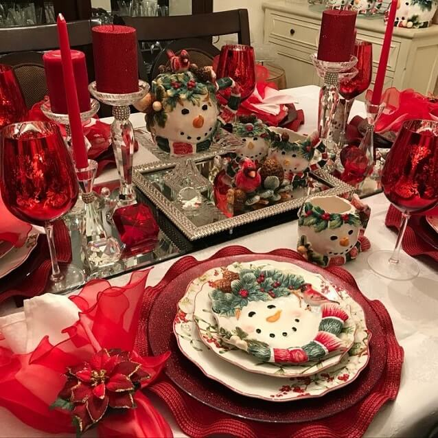 simple easy christmas table setting ideas 15