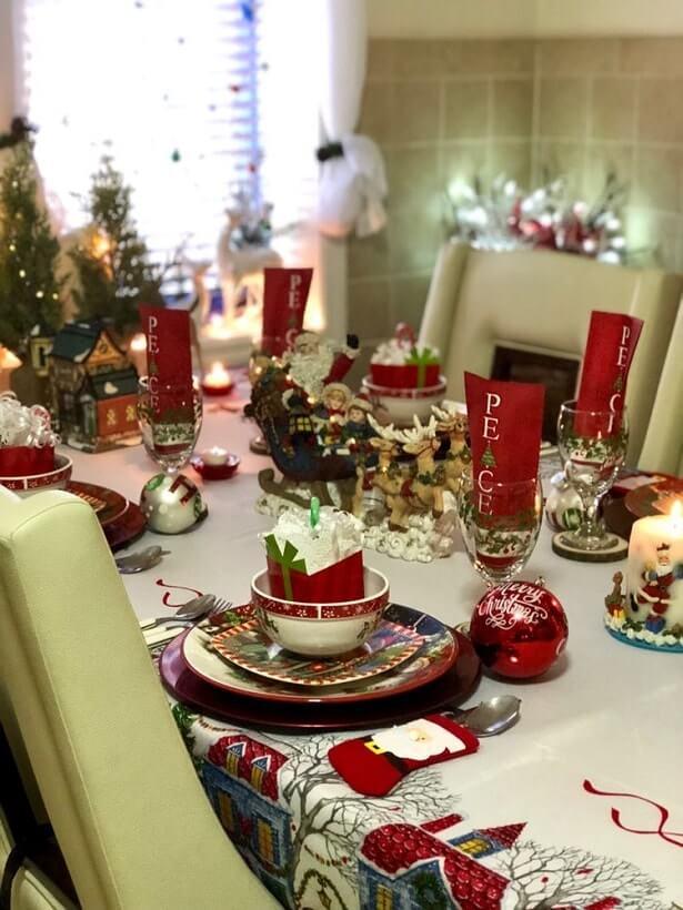 simple easy christmas table setting ideas 3
