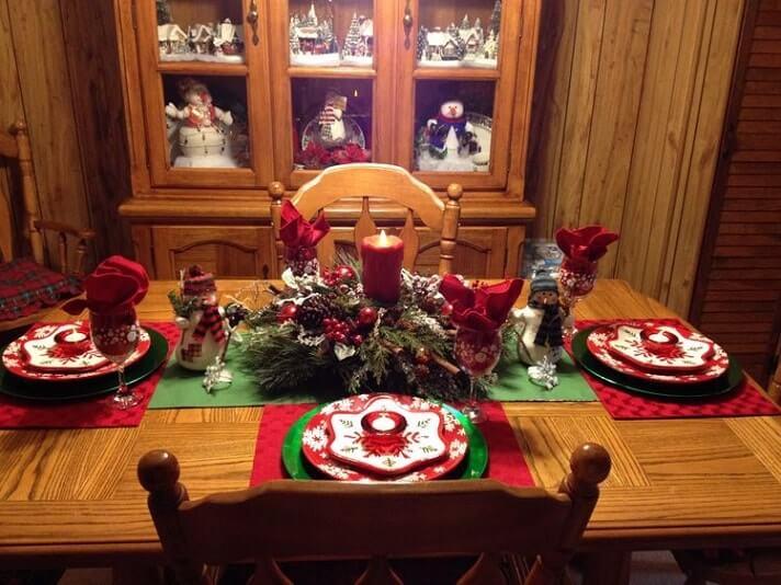 simple easy christmas table setting ideas 6