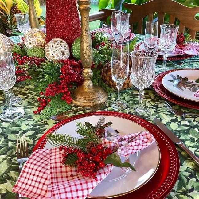 simple easy christmas table setting ideas 7