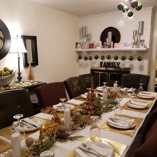 simple easy christmas table setting ideas 9