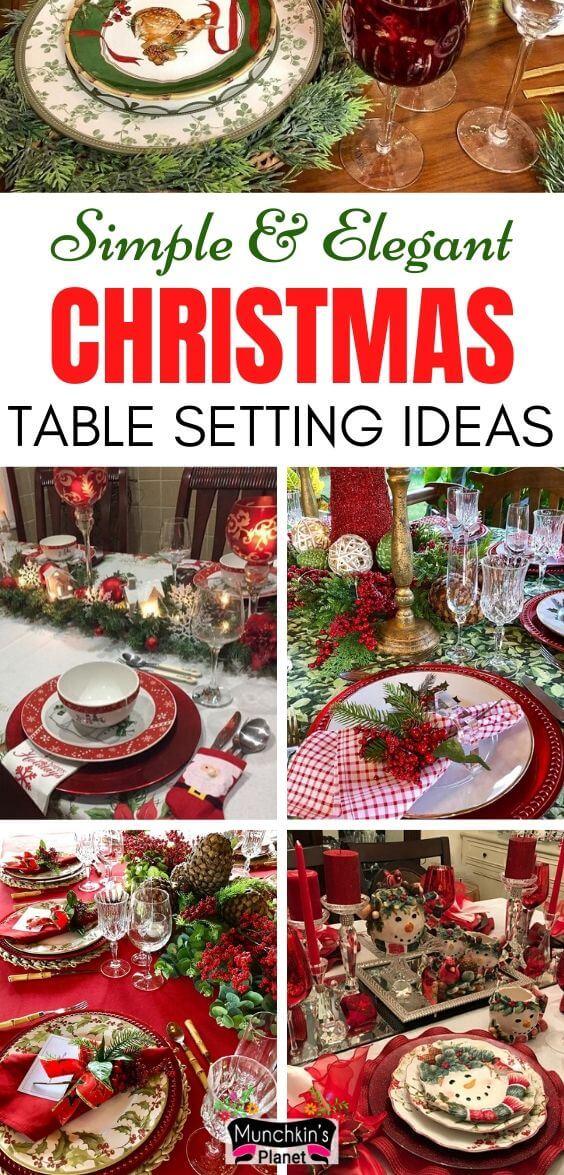 simple easy christmas table setting ideas