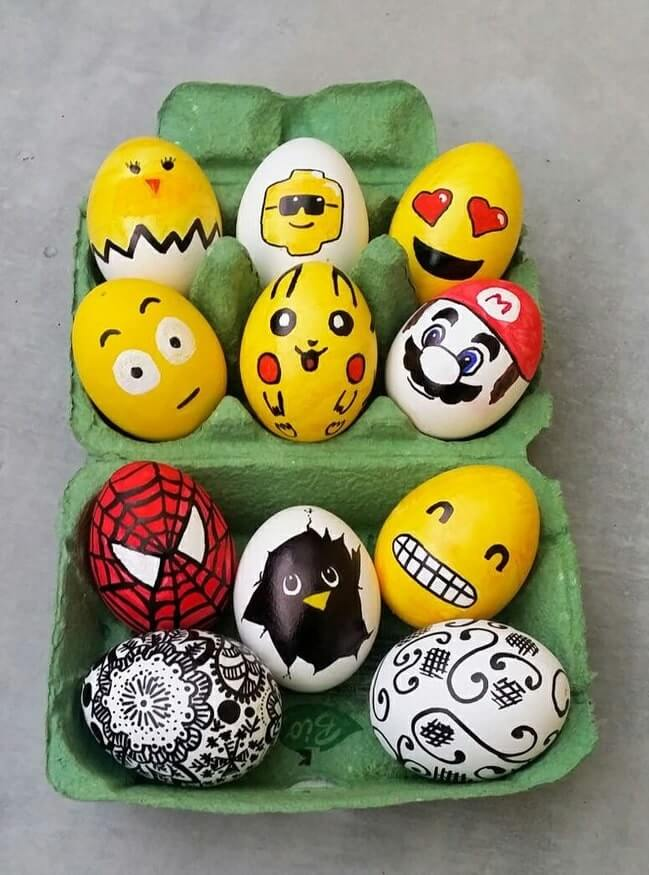 diy easter eggs decorating ideas 1