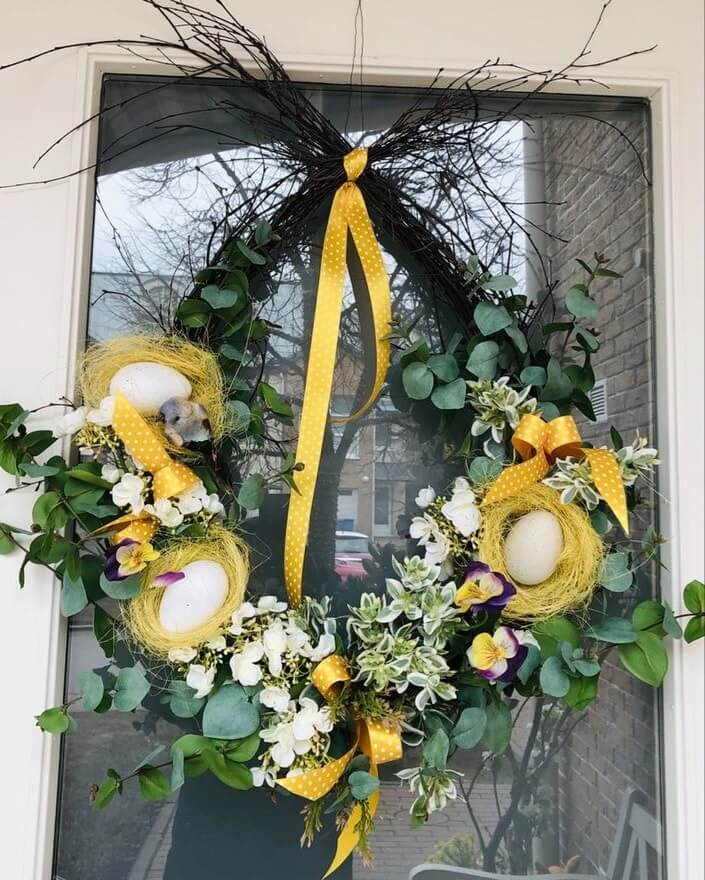 diy easter wreath 12