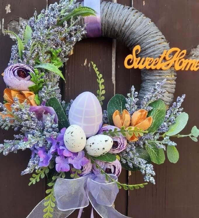 diy easter wreath 16