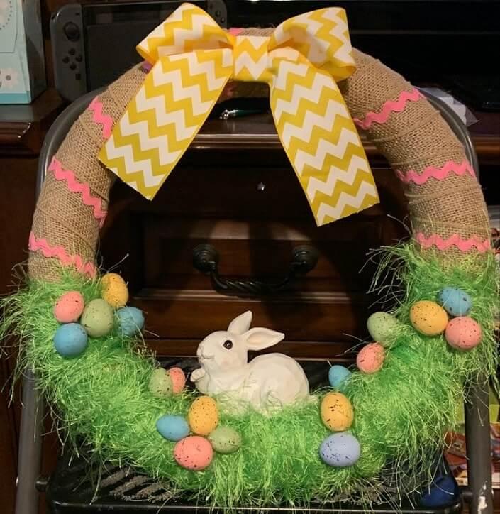 diy easter wreath 2