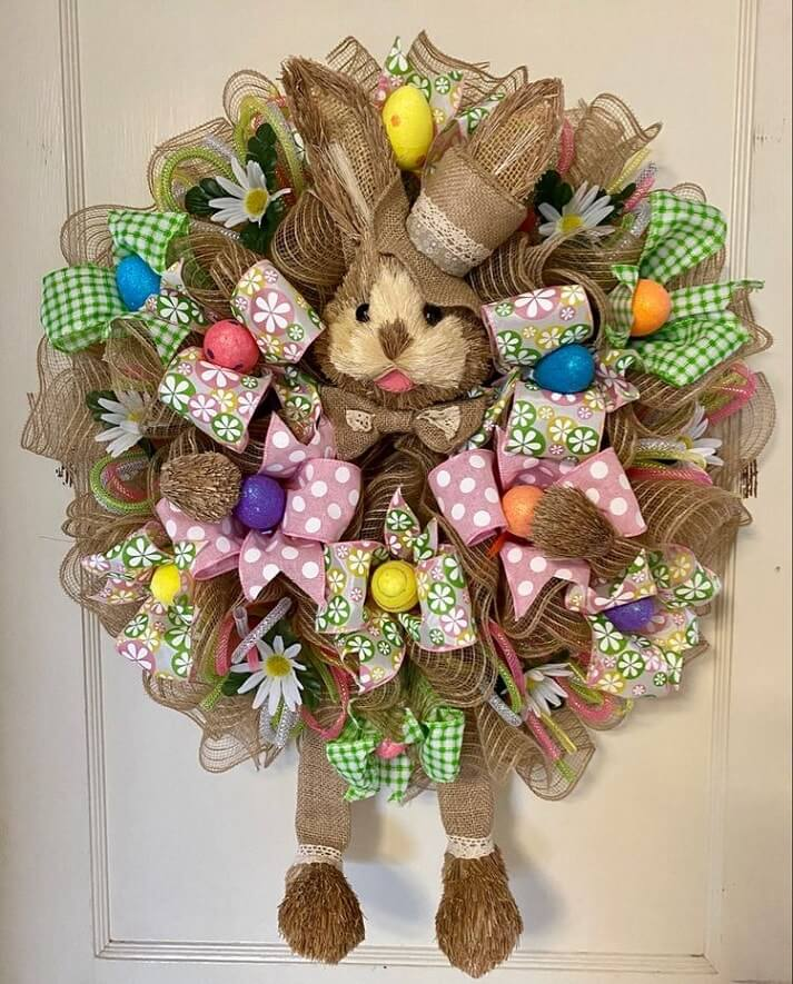 diy easter wreath 7