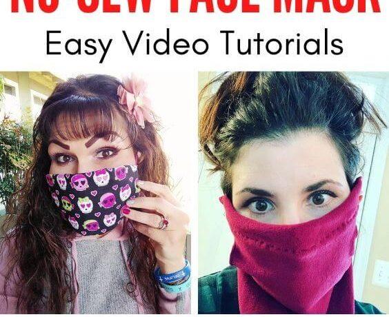 diy no sew face mask 1