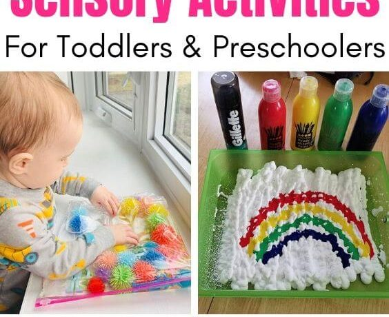 easy sensory activities toddlers preschoolers home
