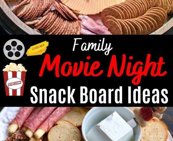movie night snack board