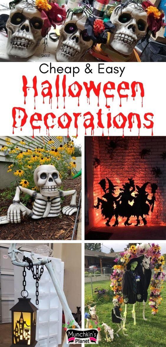 cheap easy diy halloween decorations