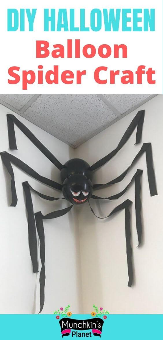 diy halloween balloon spider craft