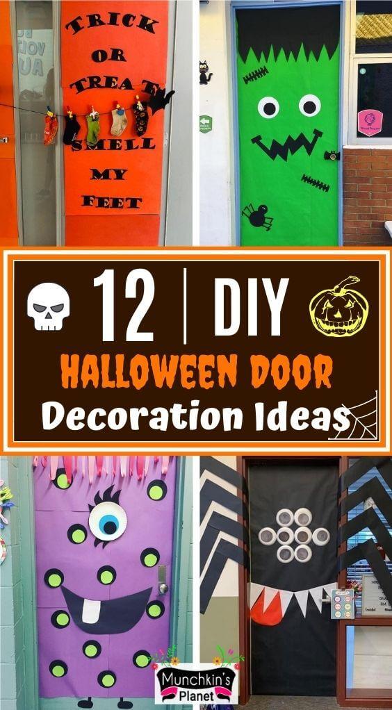 diy halloween door decorations ideas