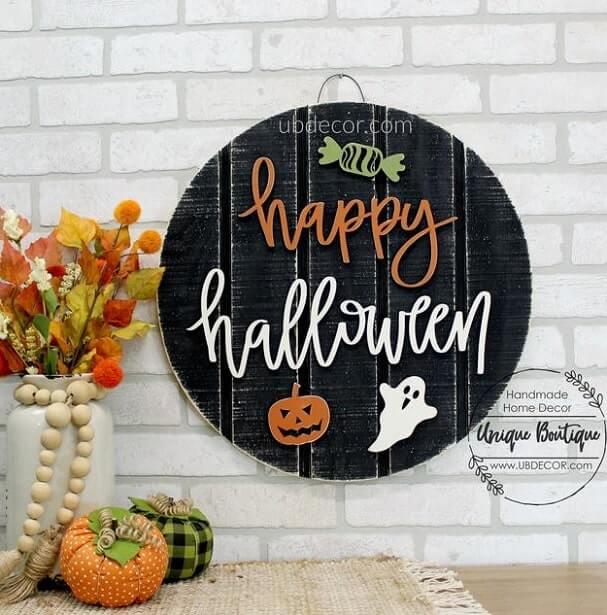 diy halloween door hanger 1
