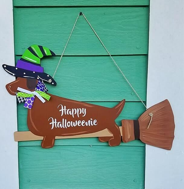 diy halloween door hanger 3