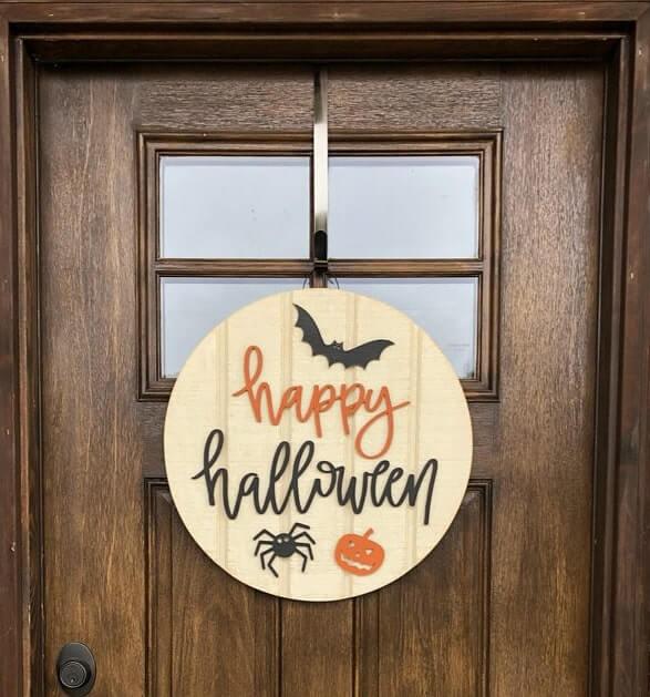 diy halloween door hanger 5