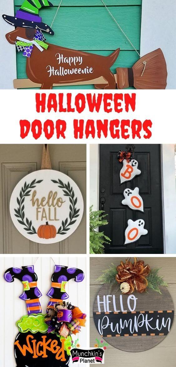 diy halloween door hanger 7