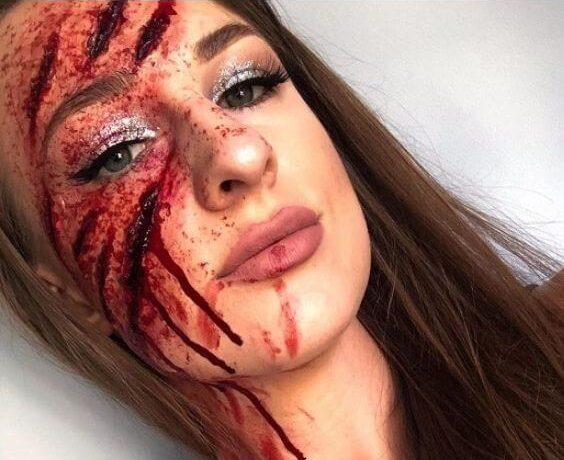 fake wounds halloween makeup tutorial