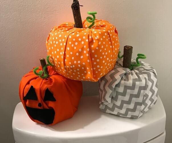 diy toilet paper pumpkins 1