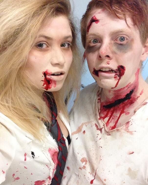 fake wounds halloween makeup tutorial 6
