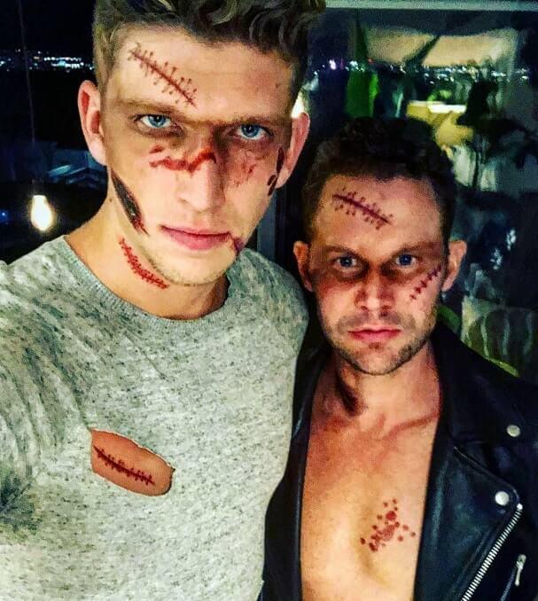 fake wounds halloween makeup tutorial 7