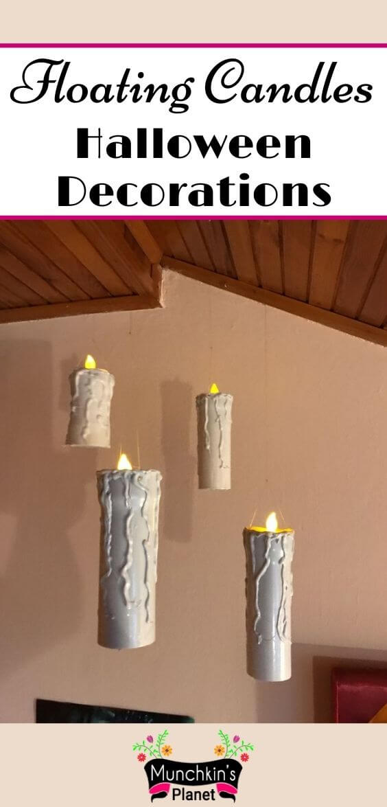 floating candles halloween decorations
