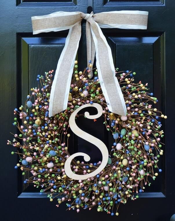 diy easter wreath 25