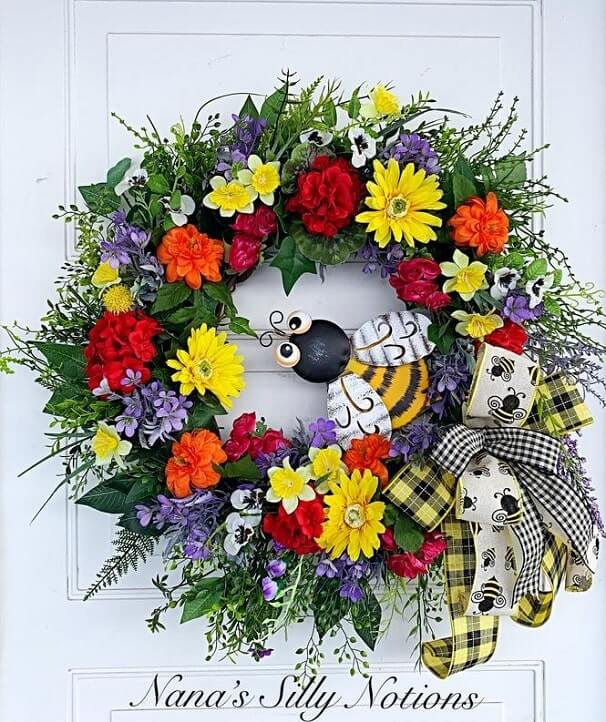 diy easter wreath 30
