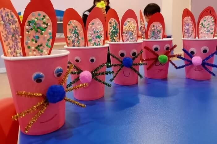 easy diy paper cup bunny craft easter 4