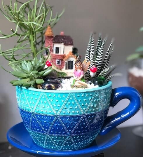 diy teacup fairy garden ideas