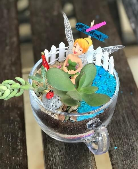 Teacup fairy garden supplies
