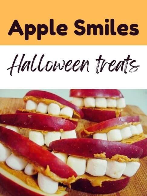 Apple Smiles Halloween Treats