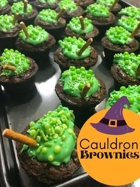 Bubbling Witch's Cauldron Brownies