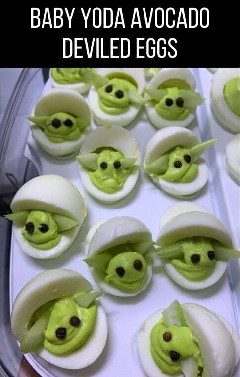 baby yoda avocado deviled eggs